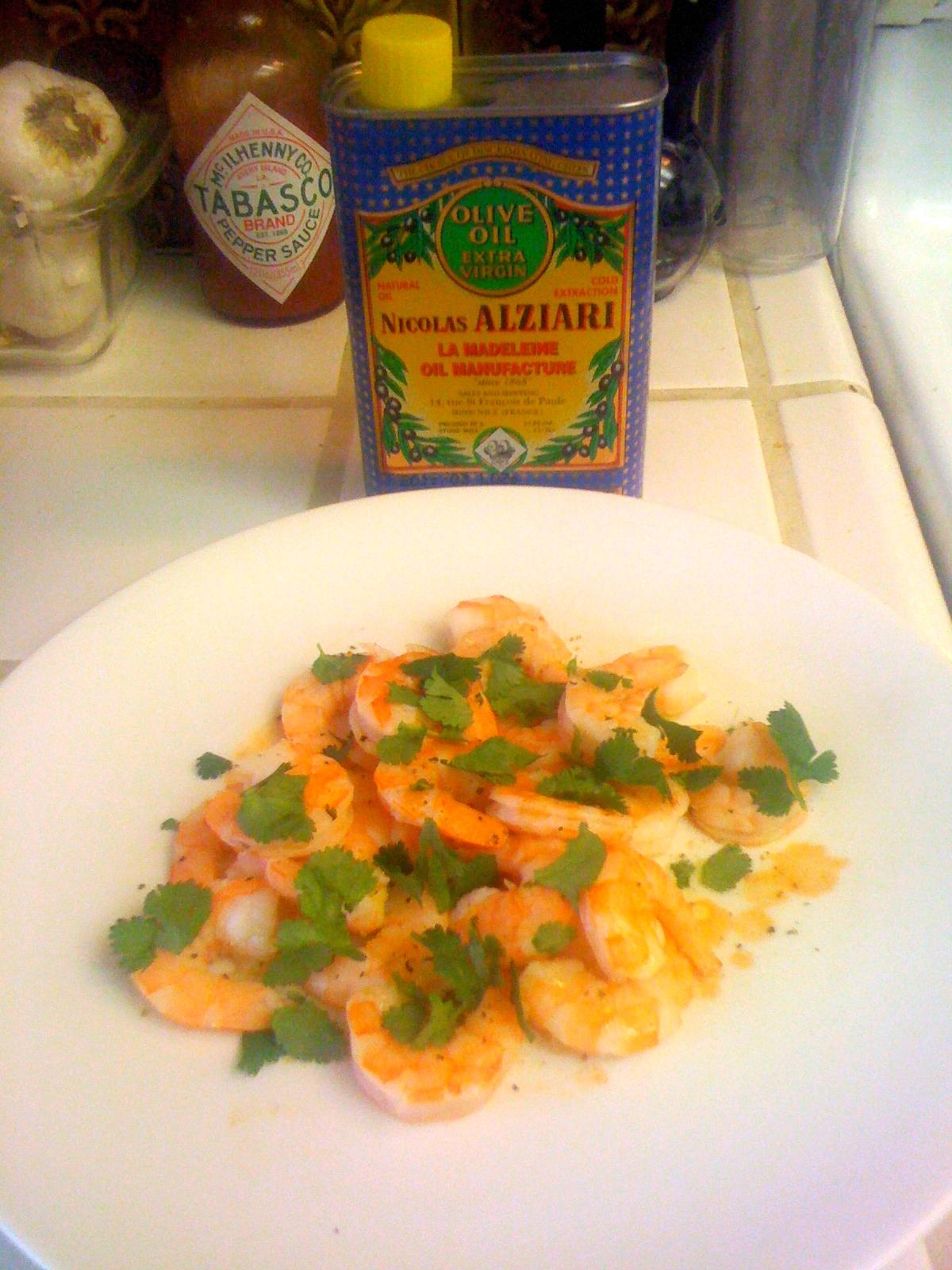 Nicolas Alziari Olive Oil Cilantro Shrimp