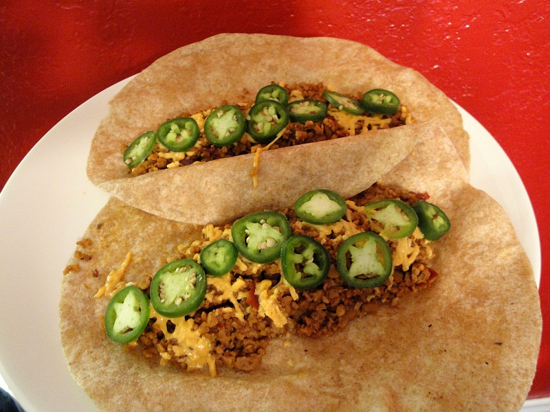 TVP Tacos - Textured Vegetable Protein Taco Filling Recipe