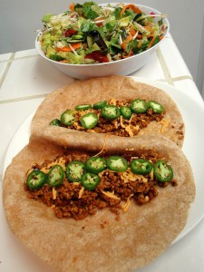 Textured Vegetable Protein Tacos