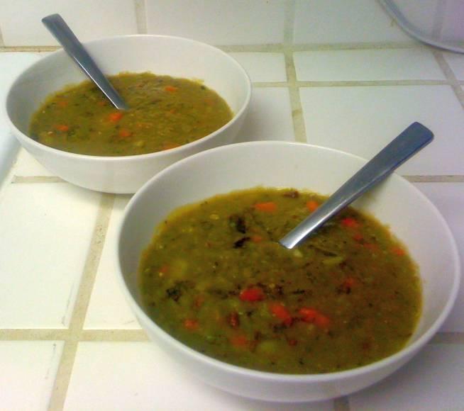 Funkinutt McFly's Funky Vegan Split Pea Soup