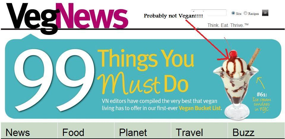VegNews Using Stock Photos of Meat in Vegan Articles